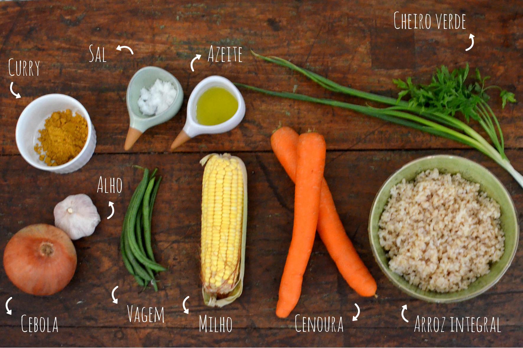 ingredientes arroz colorido