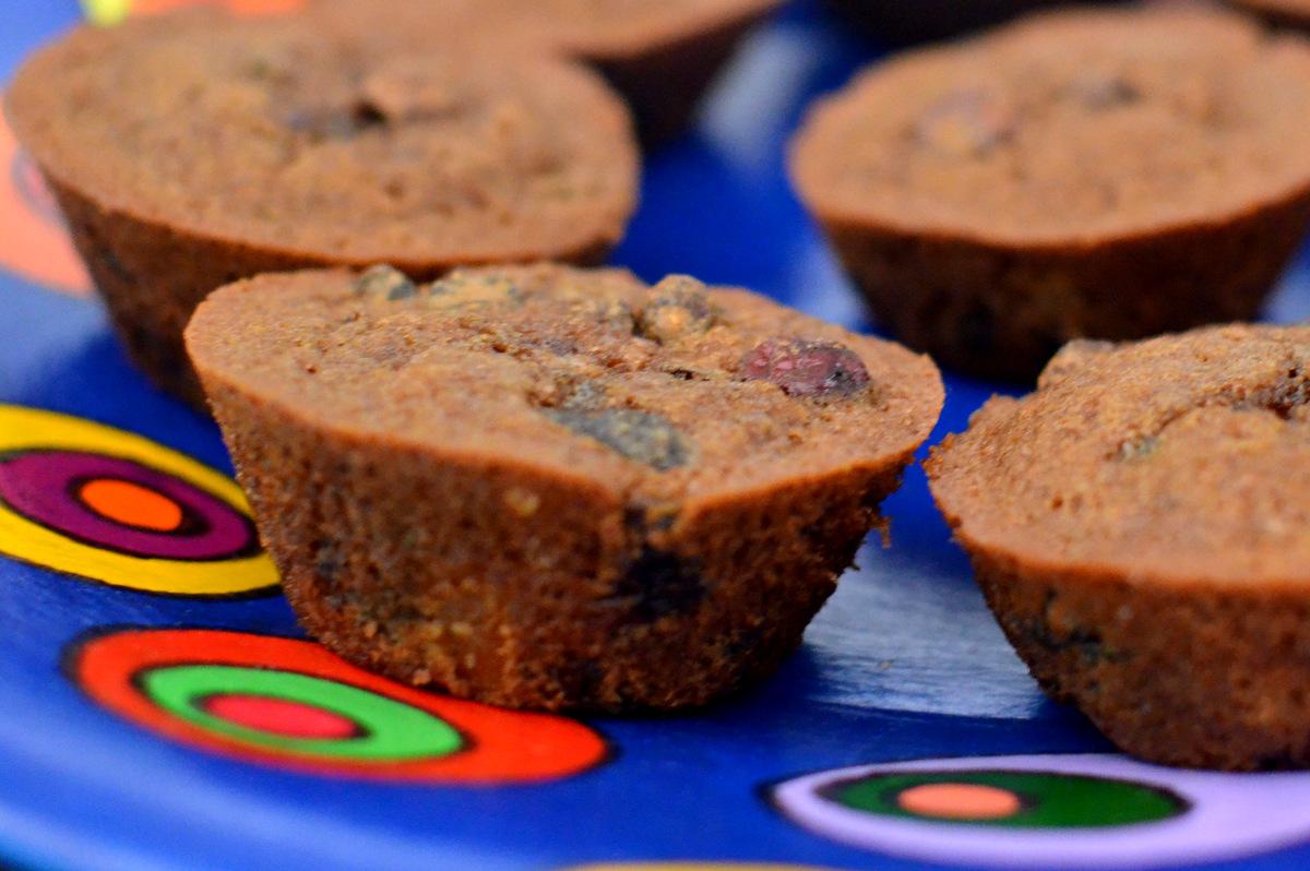 receita cupcake sem glúten com frutas