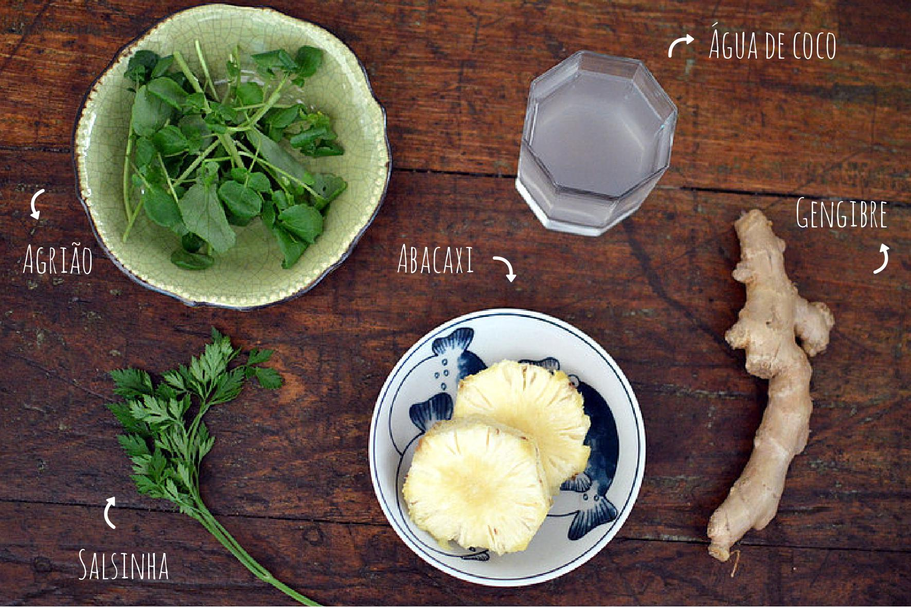 ingredientes suco verde detox