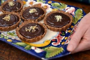 Tartalete de chocolate vegana