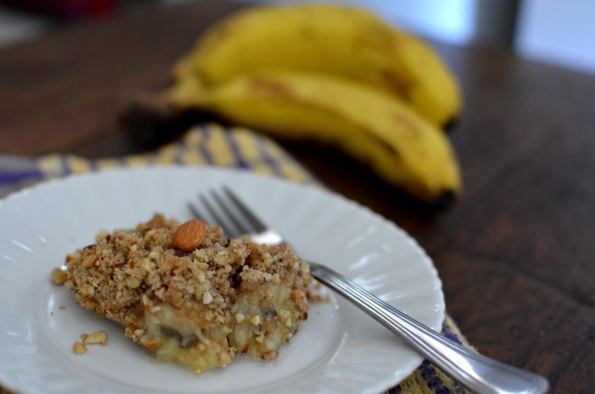 receita de crumble de banana