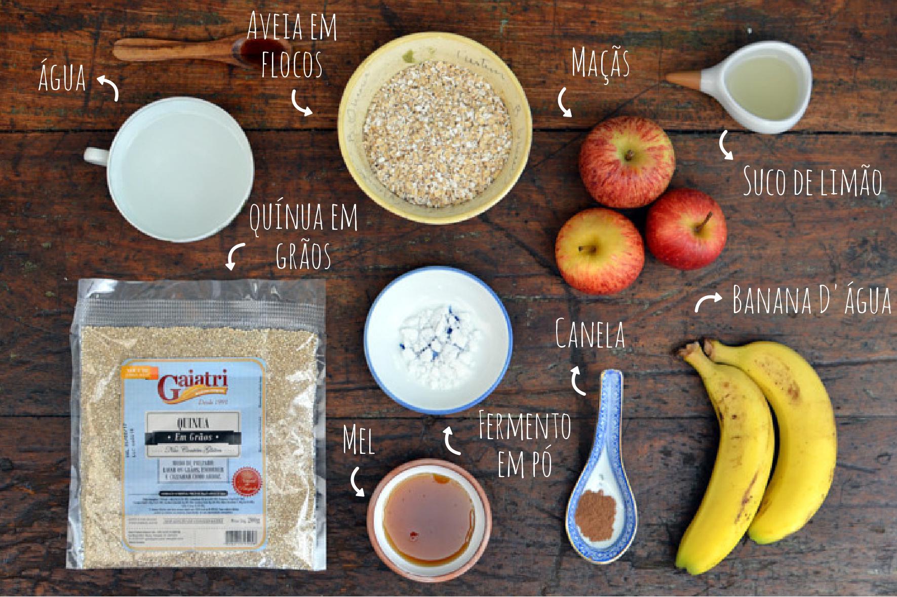 ingredientes muffin de quinoa