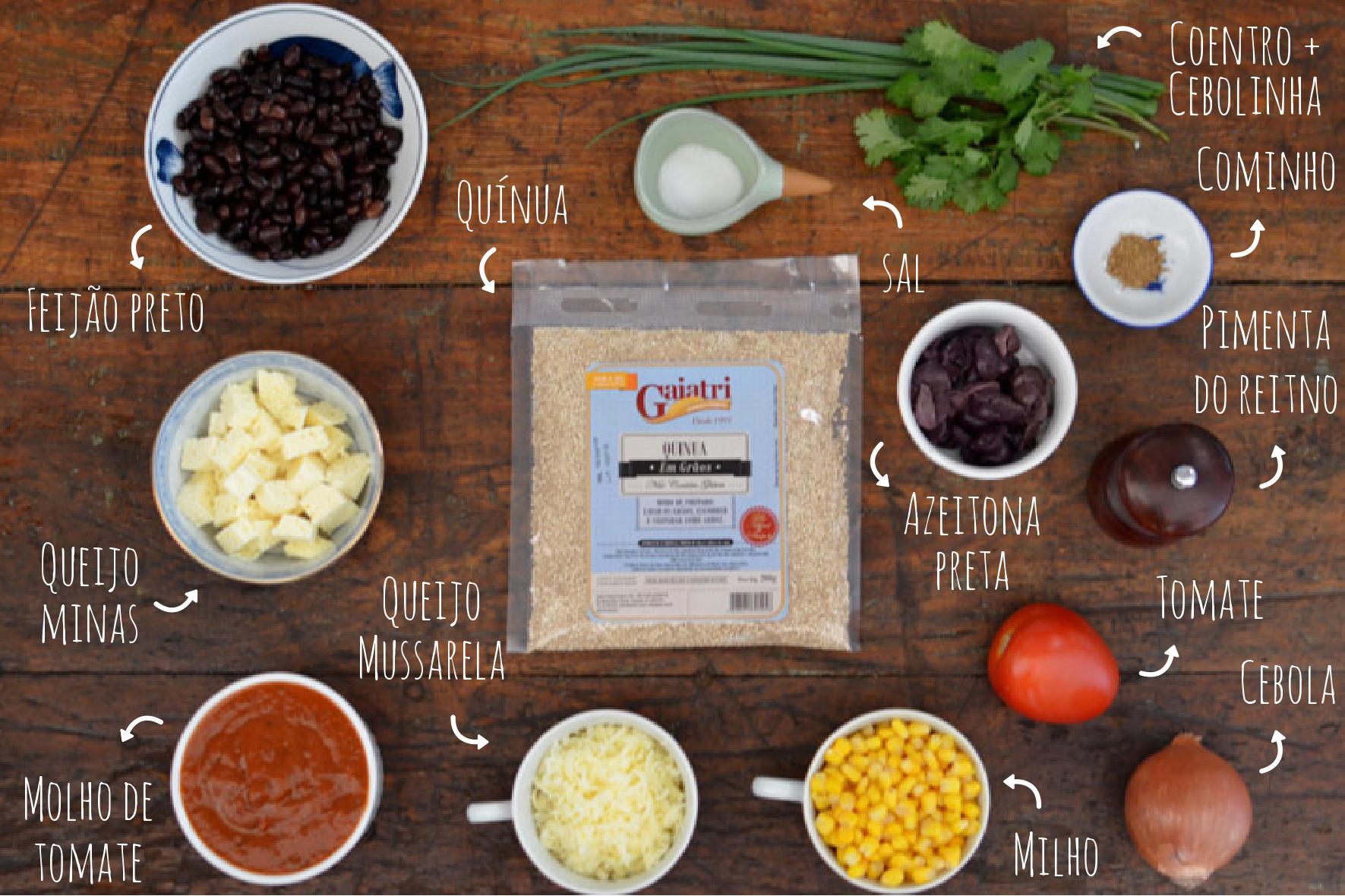 Ingredientes cassarola de quínua