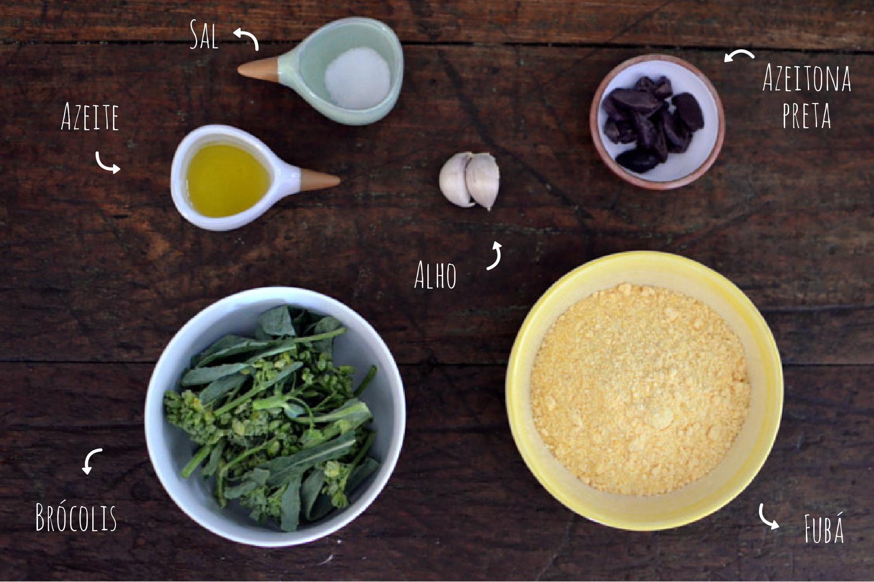 ingredientes farofa de fubá