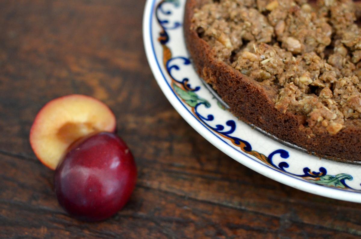 receita torta crumble de ameixa