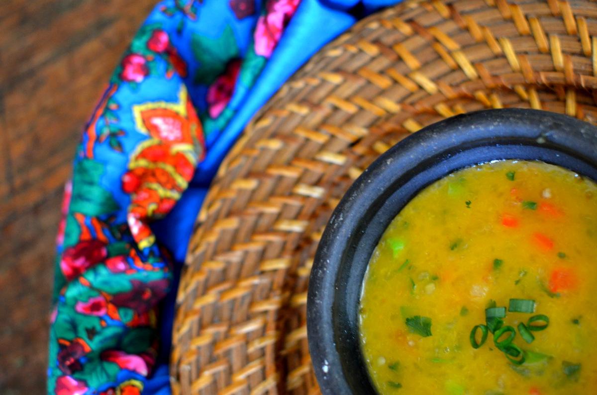 sopa vegetariana: bobó