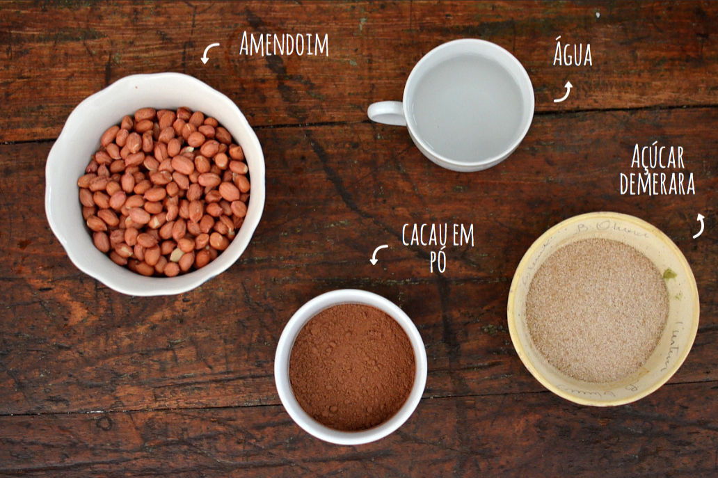 ingredientes amendoim pralinê