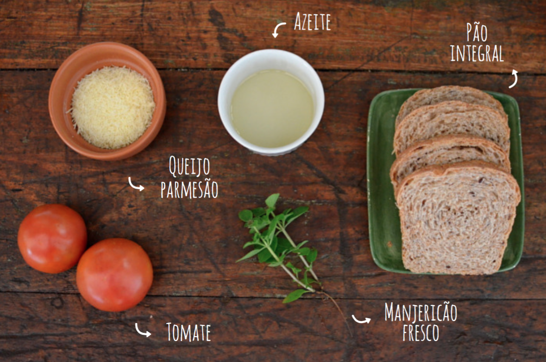 ingredientes bruschetta integral