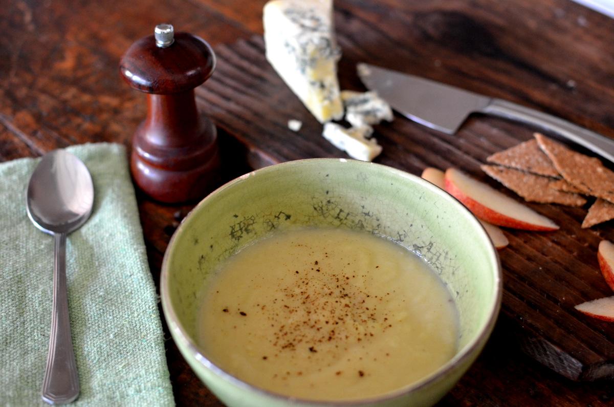 sopa de batata doce e maçã