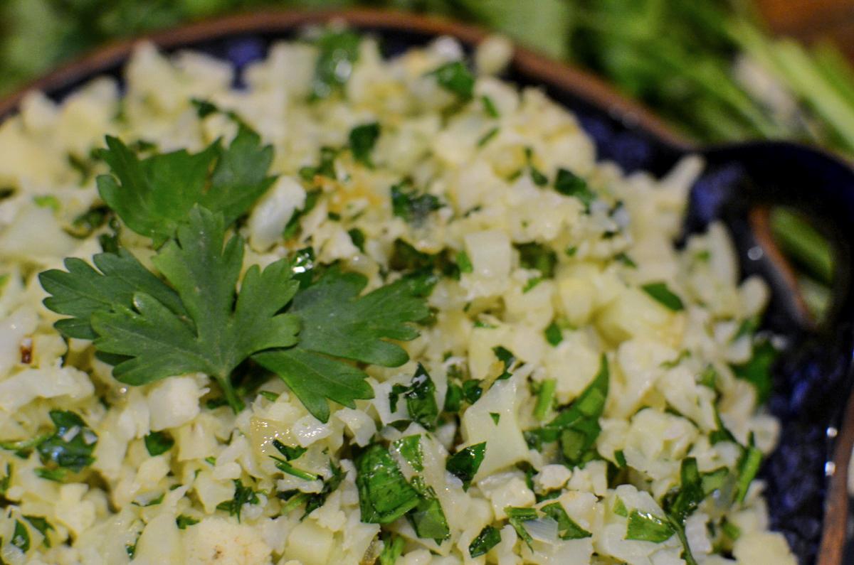 receita arroz de couve flor