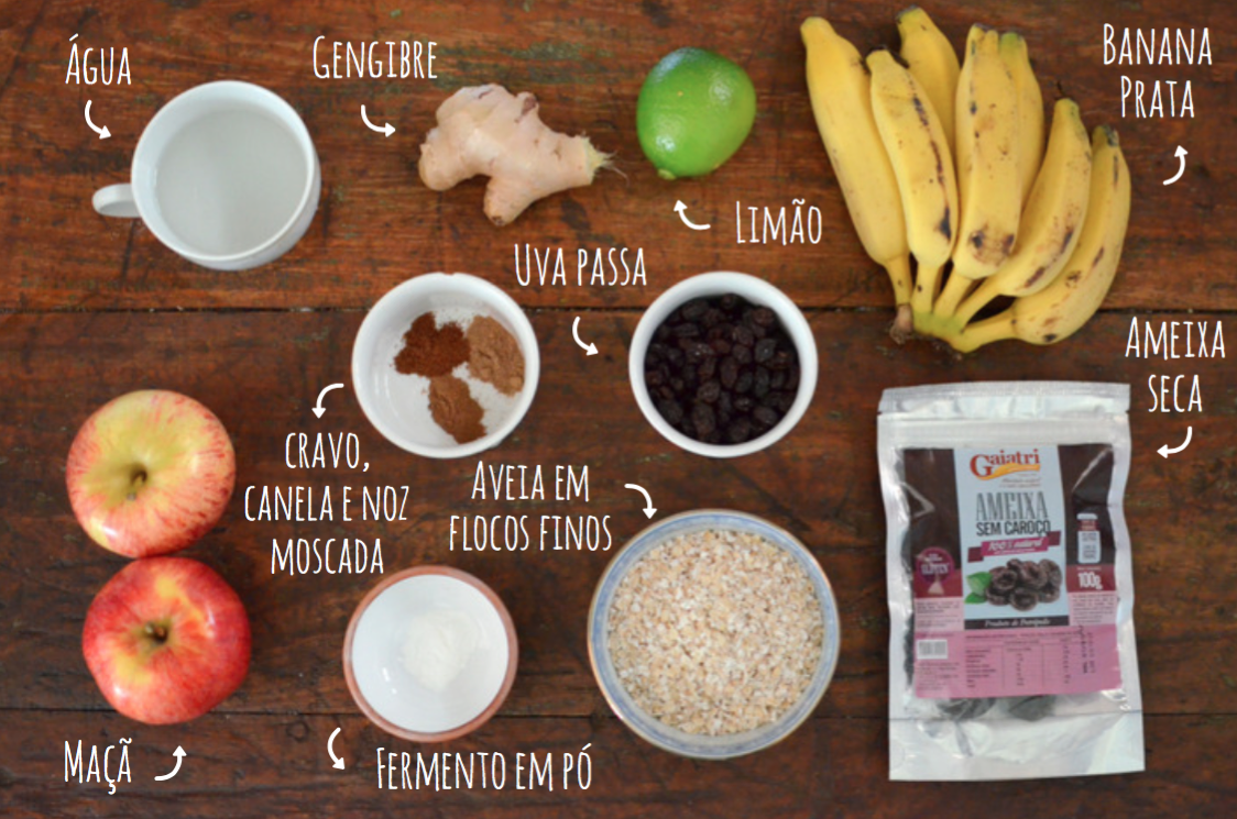 Ingredientes torta de frutas