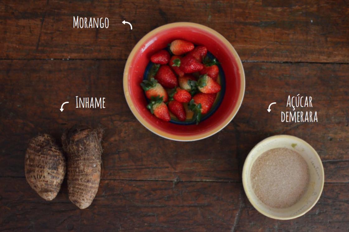 Ingredientes danoninho de inhame