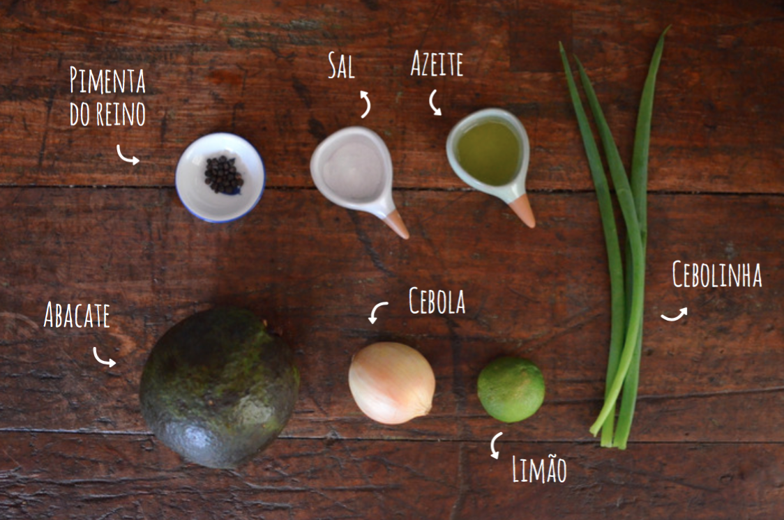 Ingredientes maionese de abacate