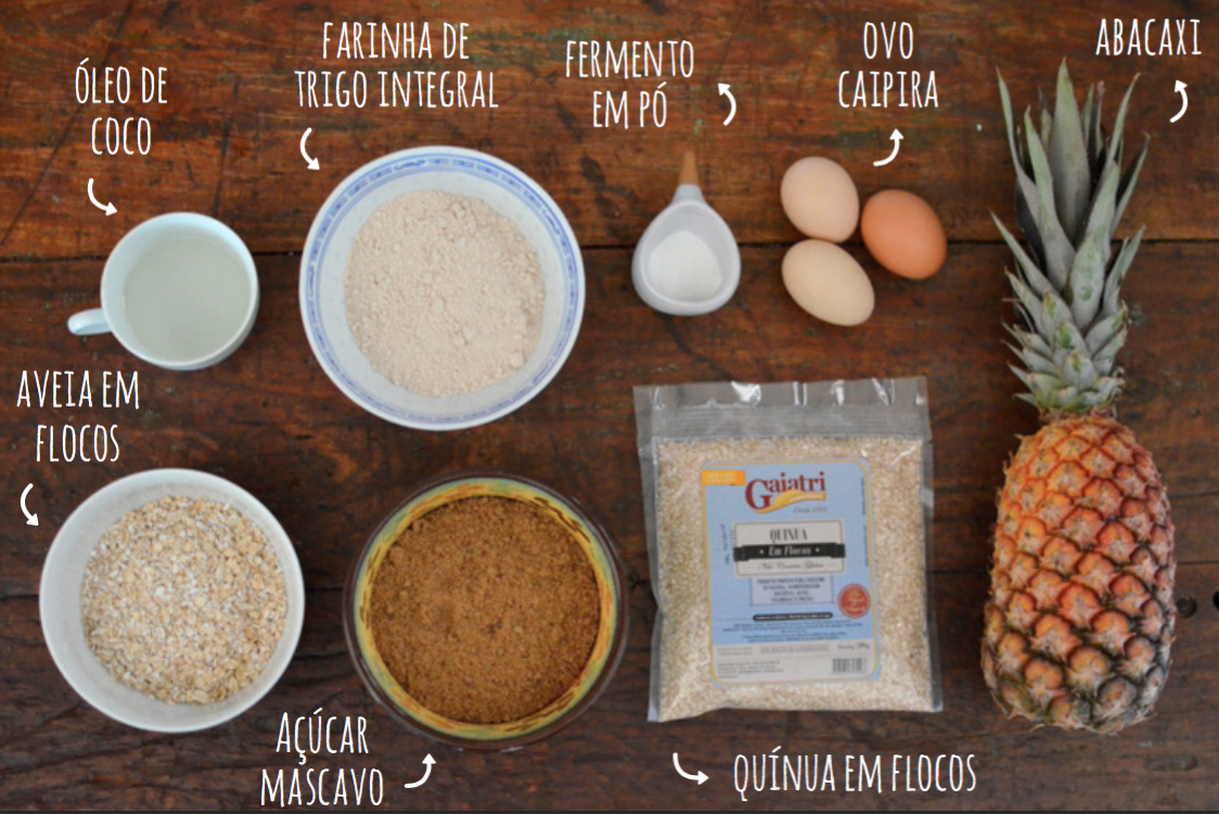 ingredientes torta de abacaxi integral