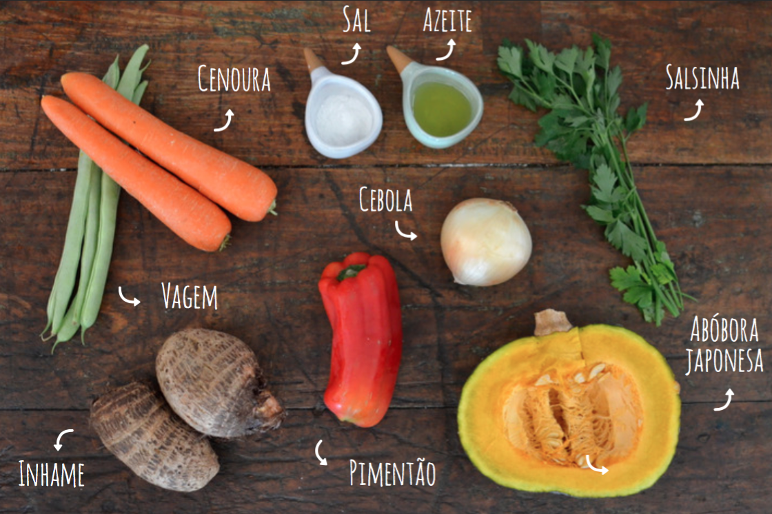 ingredientes salada de legumes