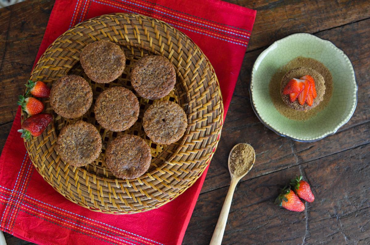 muffin integral de morango