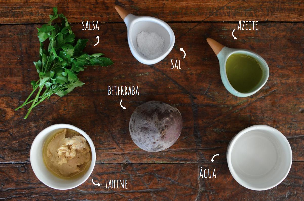 ingredientes pasta de beterraba