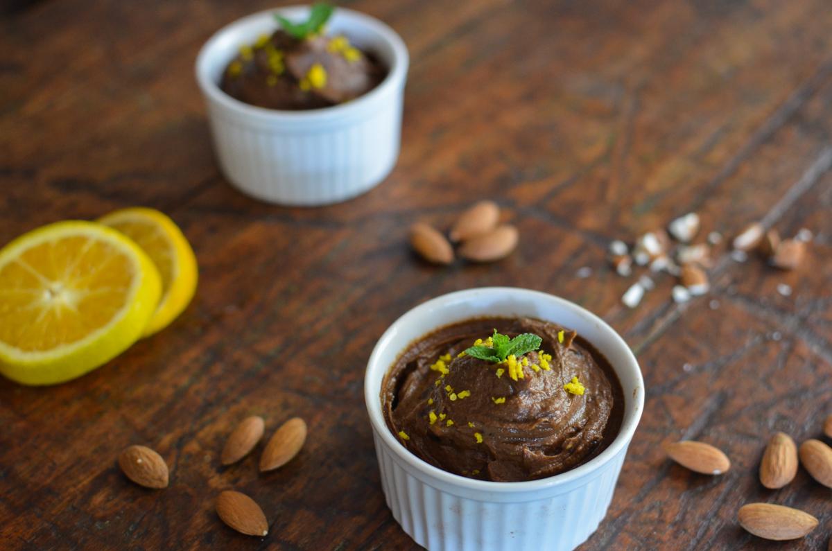mousse de chocolate vegana