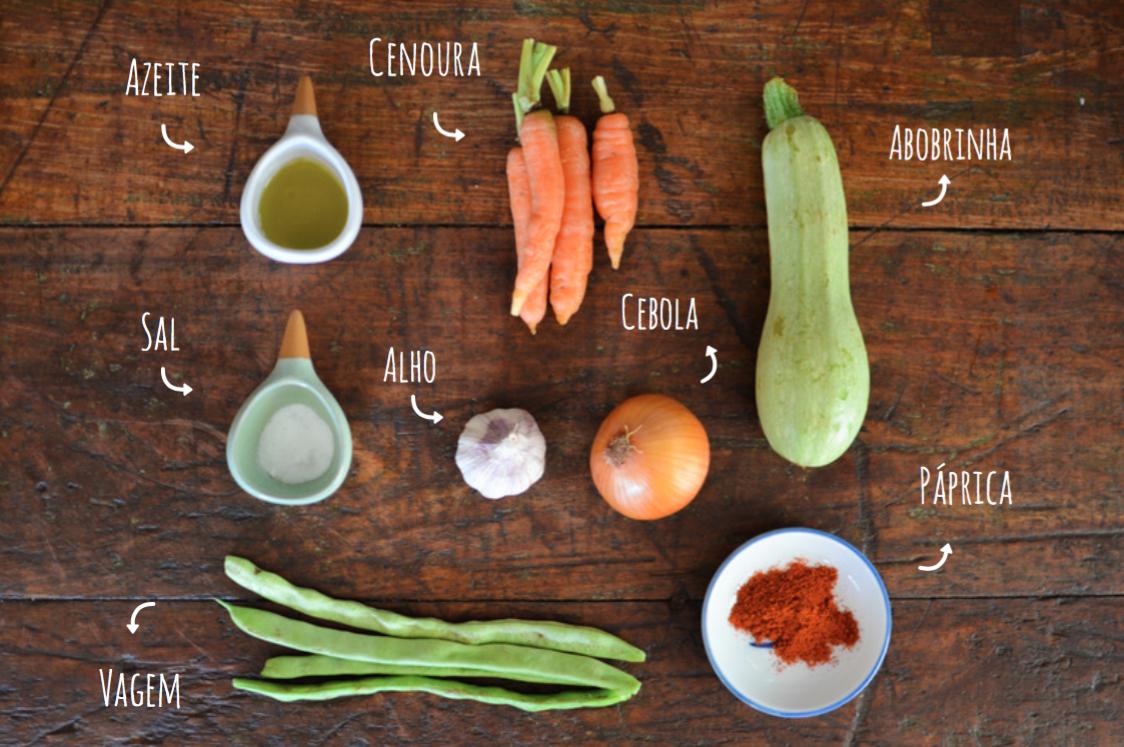 ingredientes recheio de panqueca vegana