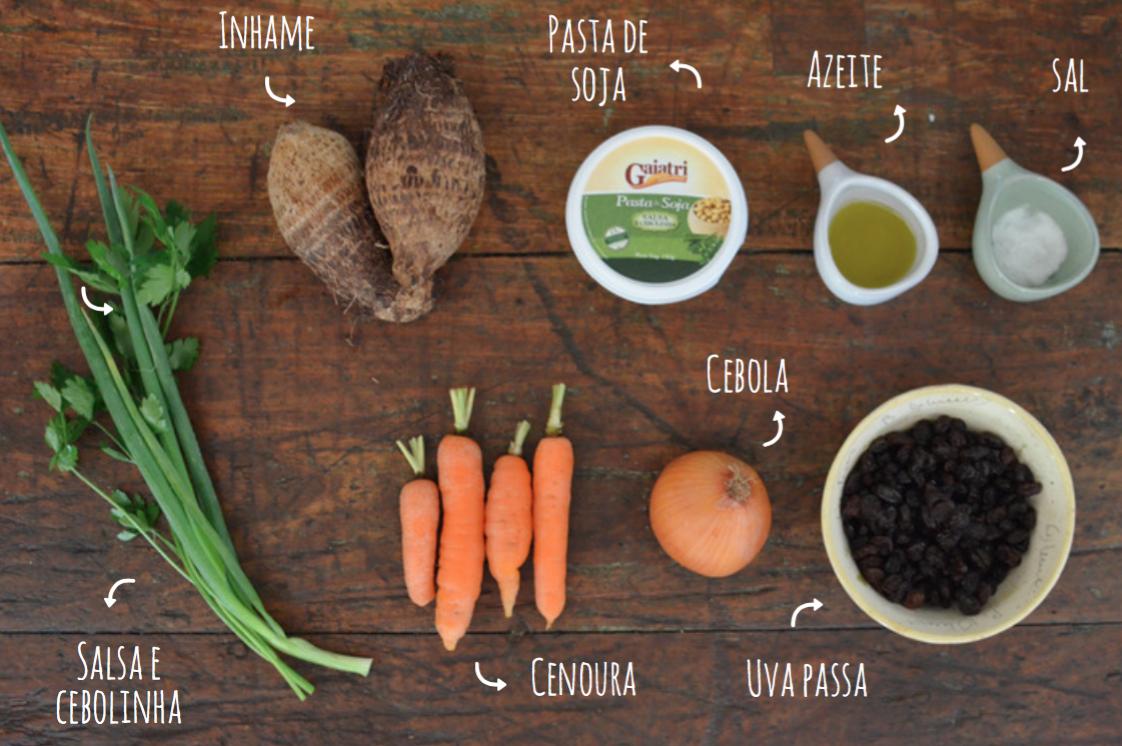 ingredientes salpicão de inhame