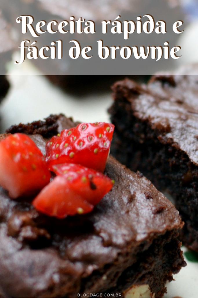Receita rápida e fácil de brownie