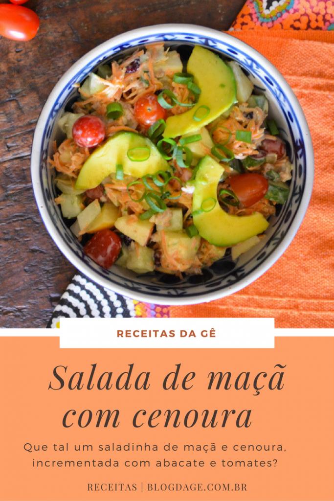 Salada de maça com cenoura