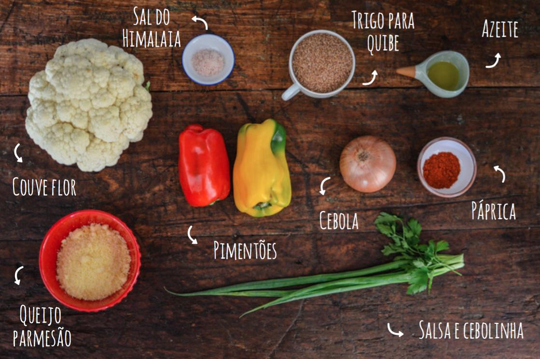 ingredientes quibe de couve flora