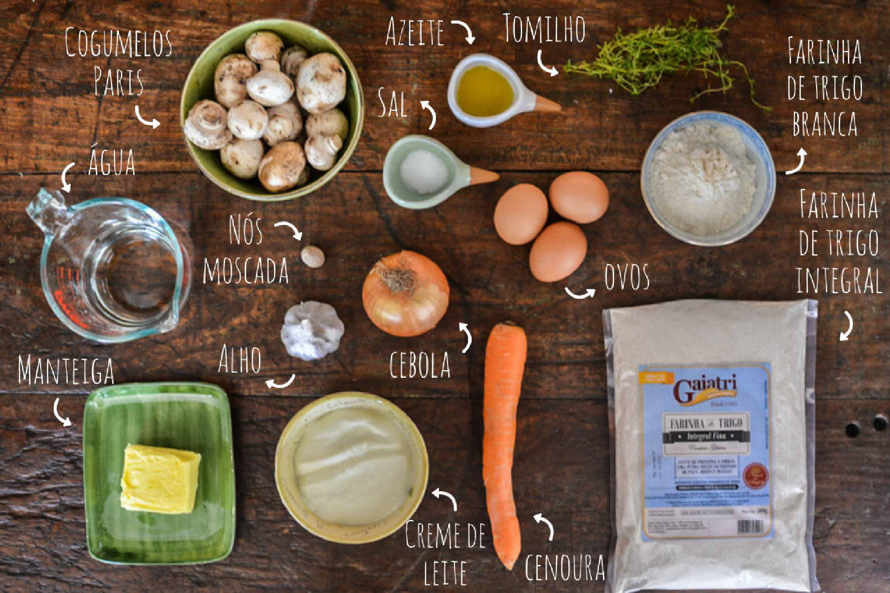 como fazer quiche de cogumelo
