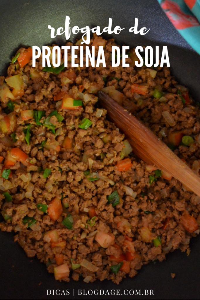 Refogado de proteína de soja