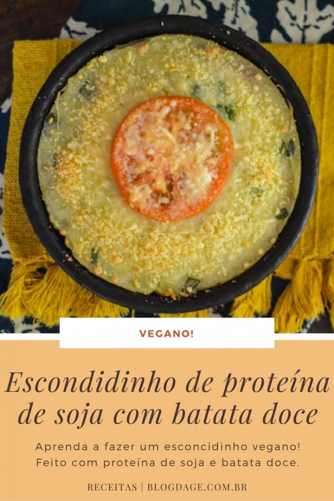 Escondidinho de proteína de soja e batata doce