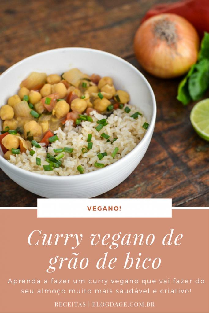 Curry vegano de grão de bico