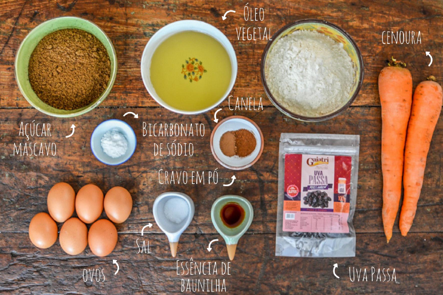 como fazer bolo de cenoura