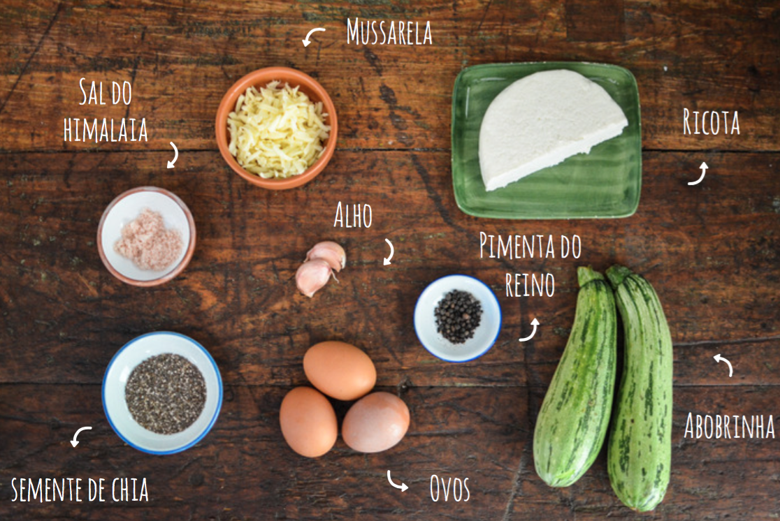 ingredientes quiche de abobrinha