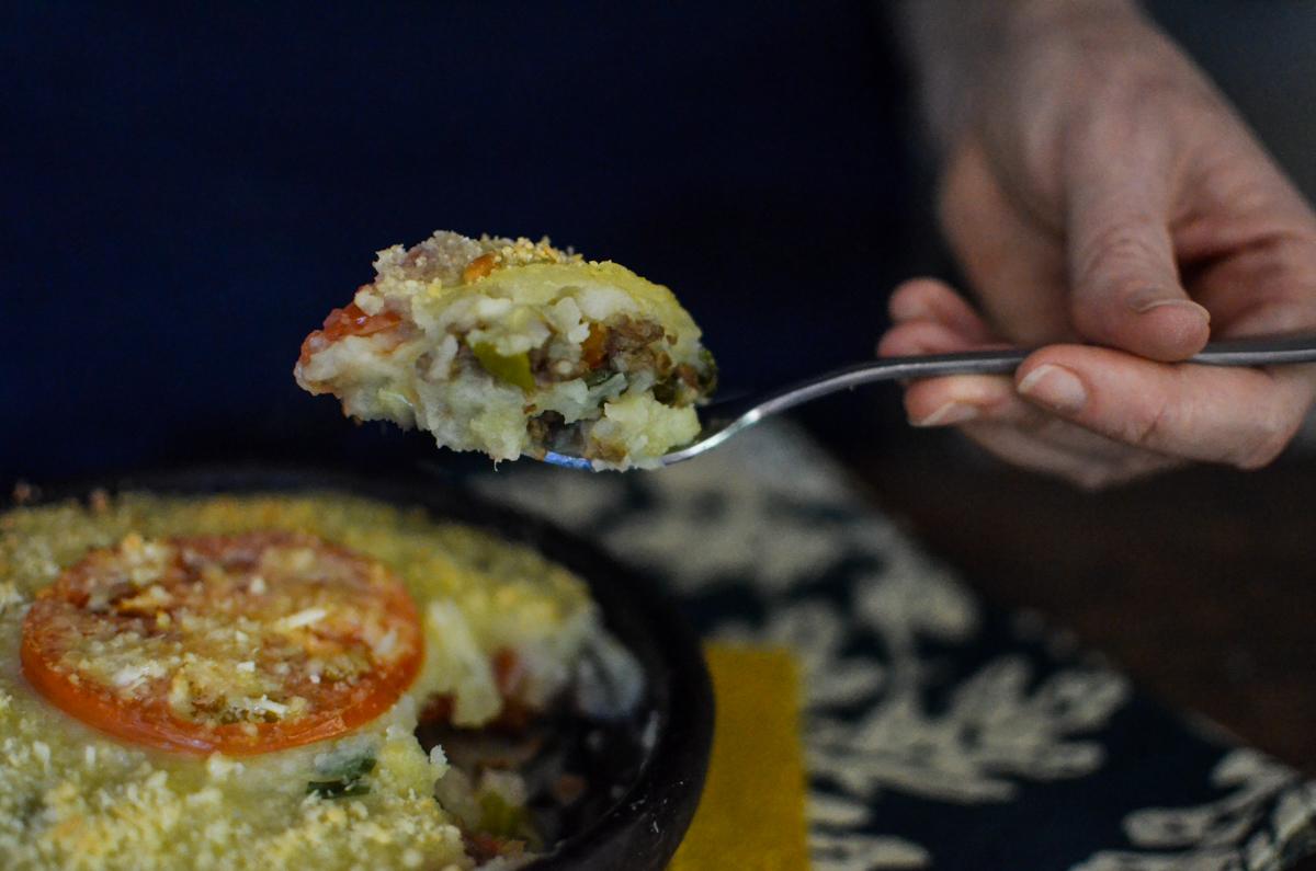 receita escondidinho de carne de soja