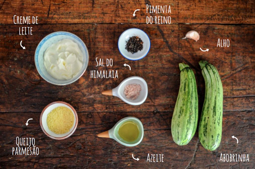 Ingredientes risoto de abobrinha