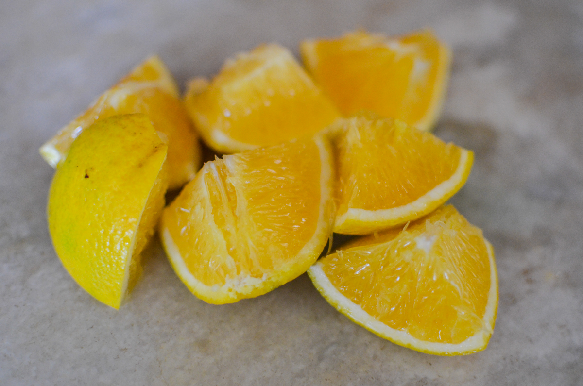 laranjas cortadas