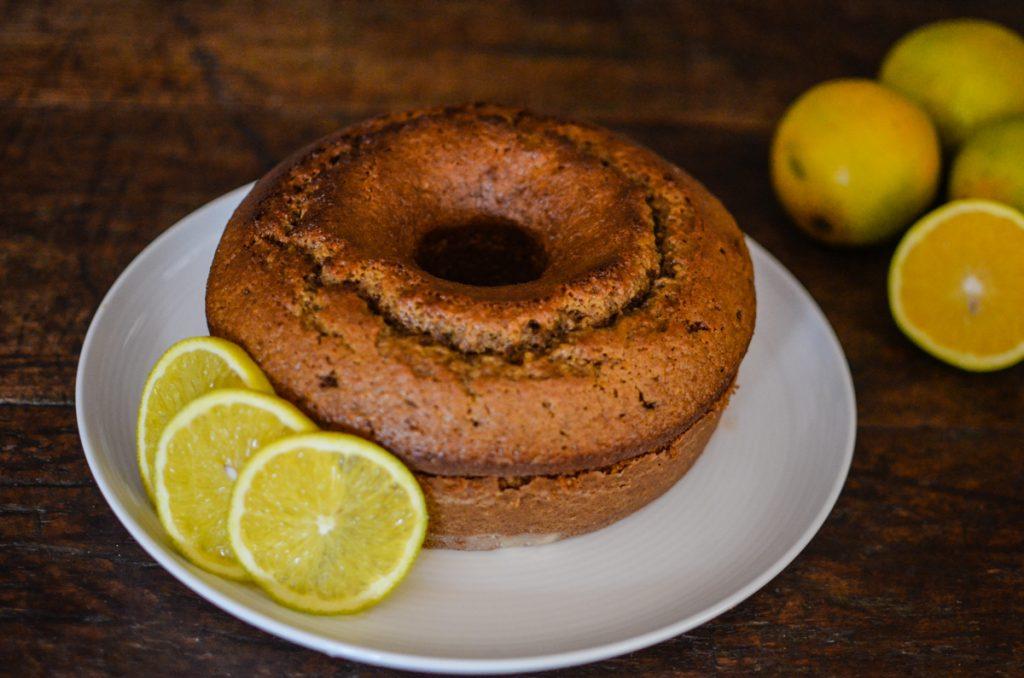 bolo de laranja com açúcar mascavo