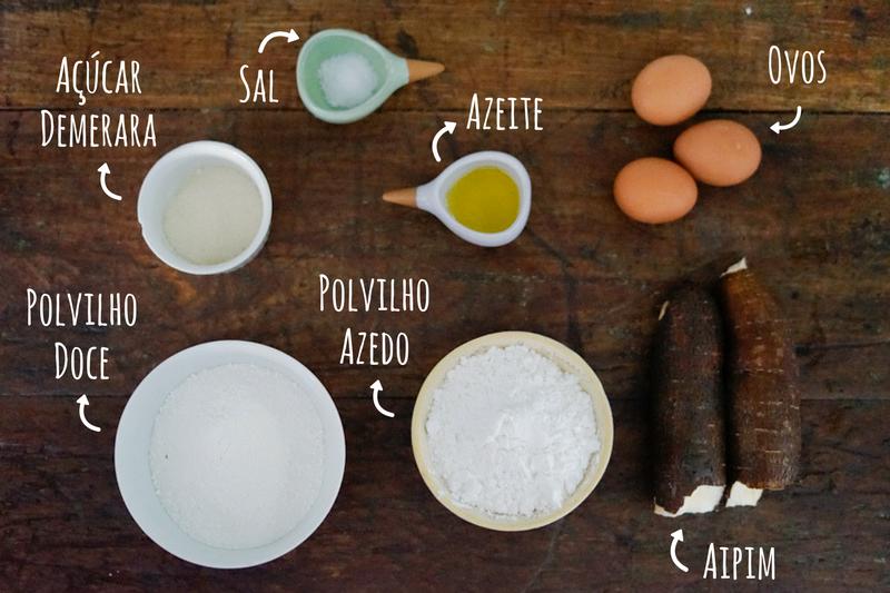 ingredientes pão de mandioca sem glúten
