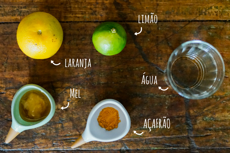 ingredientes limonada de açafrão