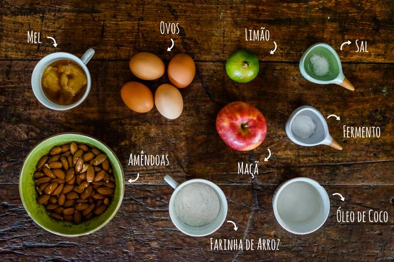 ingredientes bolo de maçã sem glúten
