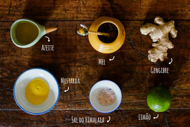 ingredientes molho para salada