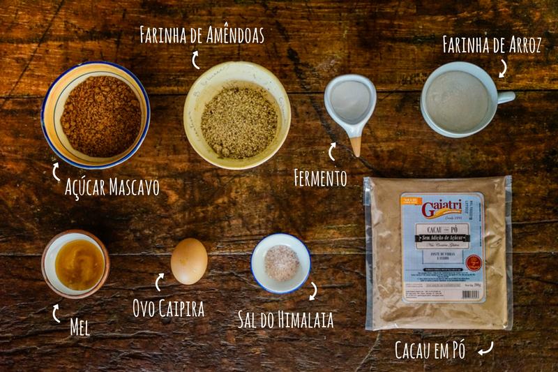 Cookies de Cacau - preparo