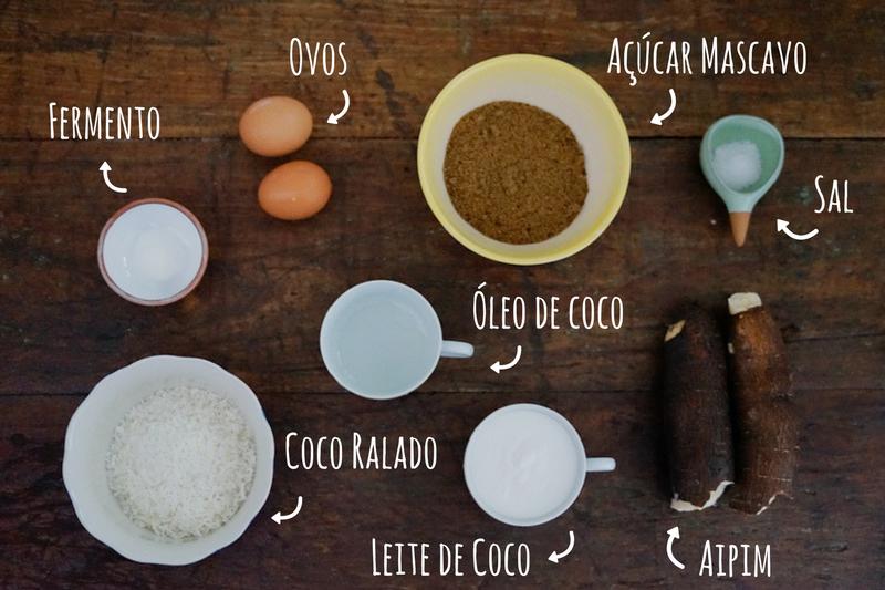 ingredientes bolo de mandioca sem gluten