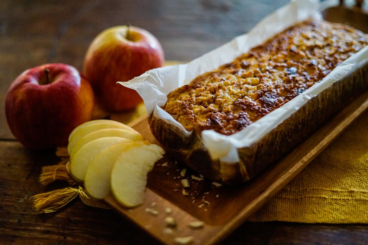 bolo de maçã sem lactose