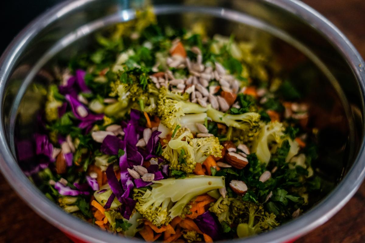 receita de salada com semente de girassol