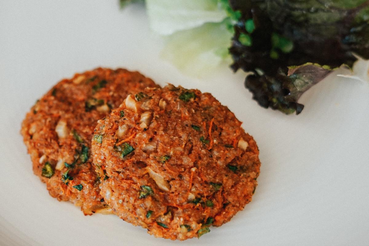 receita de hamburguer de arroz integral