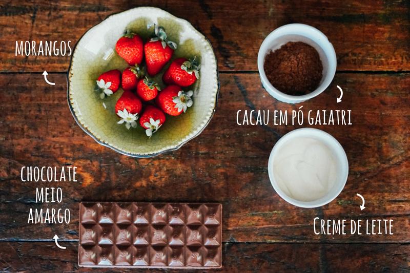 ingredientes cobertura de bolo de cacau
