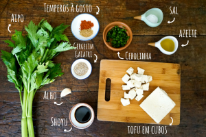 Ingredientes de tofu asiático