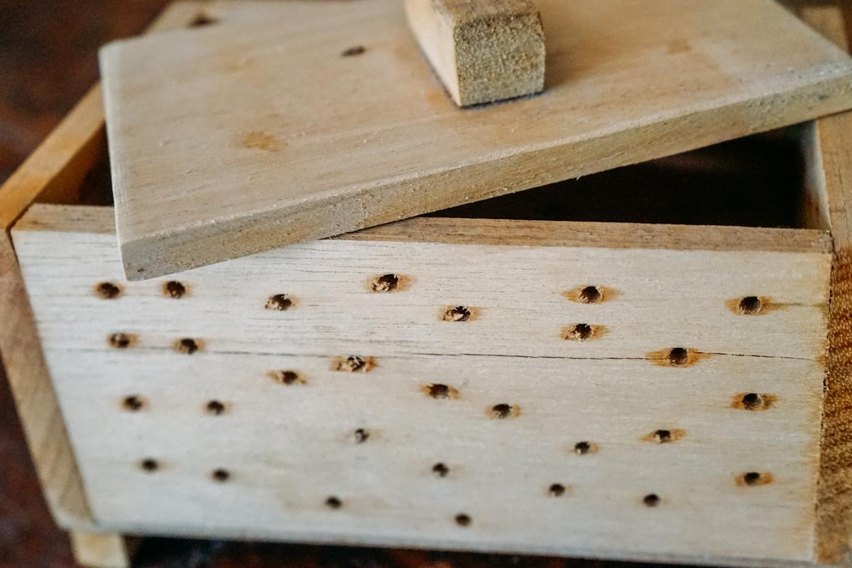 Caixa de madeira para Tofu