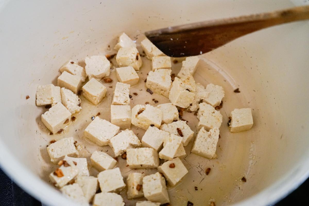 receita com tofu
